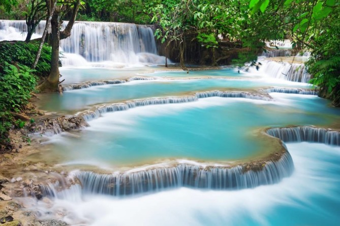 kuang si waterfall Luang Prabang Travel Guide