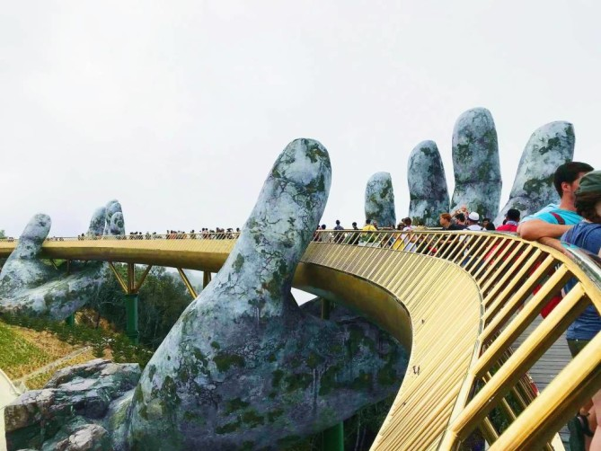 Hands of God golden bridge Danang travel blog