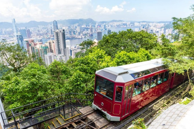 Victoria Peak The Peak peak tram hong kong travel guide