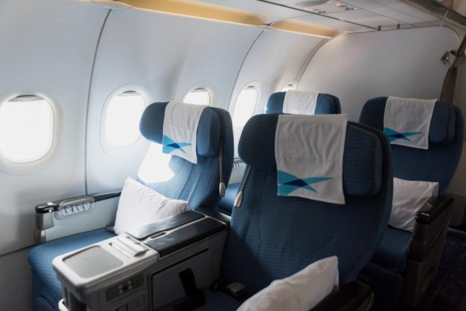 Fly Blue Ribbon Class with wide seat space