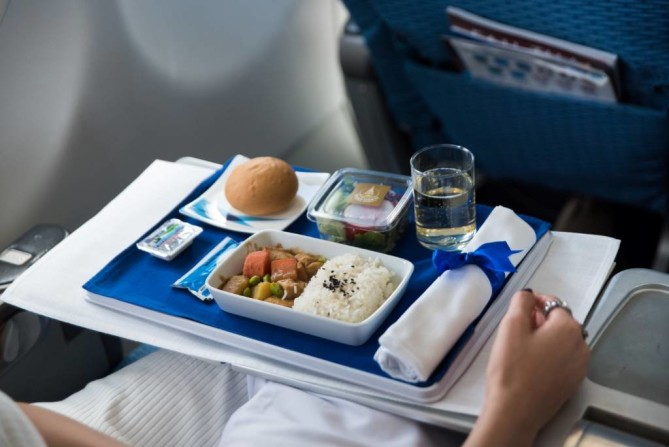 In-flight meal from Bangkok Airways