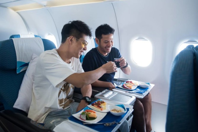 drinks on board Bangkok Airways