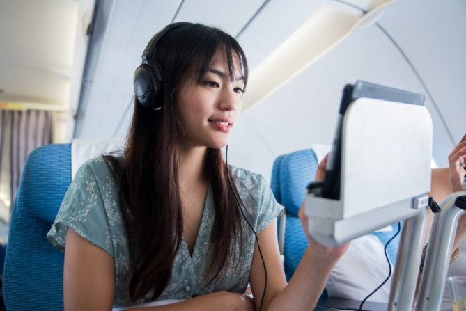 Enjoy In-flight entertainment by Bangkok Airways