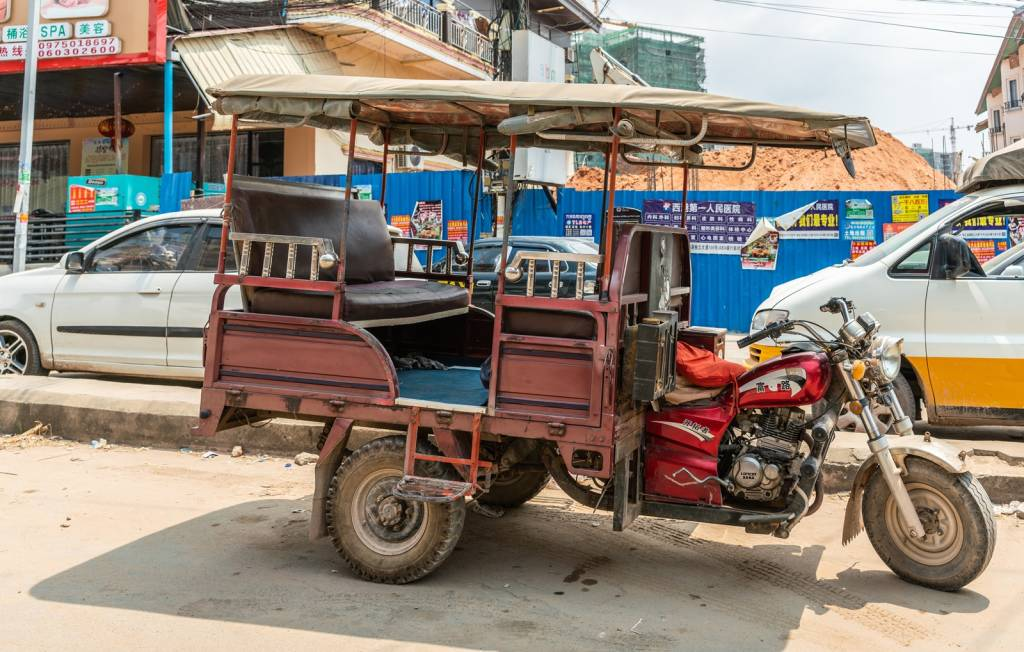 Motorcycle taxi in Sihanoukville