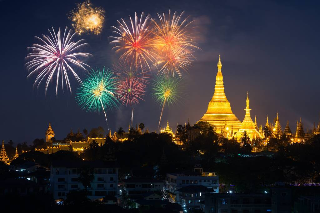 New Year's Eve in Yangon